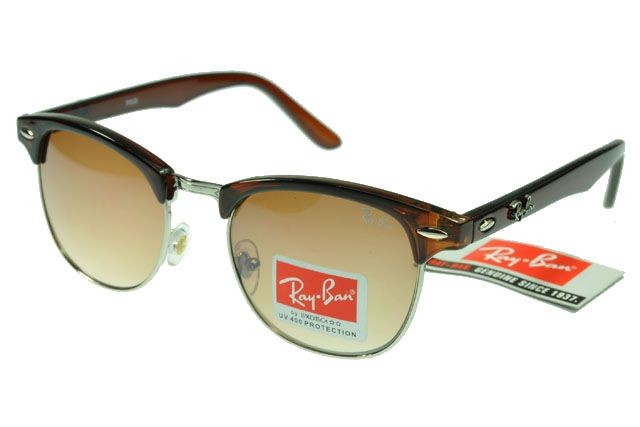 Ray-Ban Clubmaster 95005 Deep Brown Frame Tawny Lens RB1329