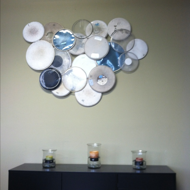 drumhead wall art Im looking to do something like this