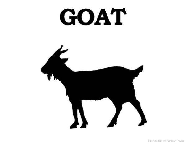printable goat silhouette - print