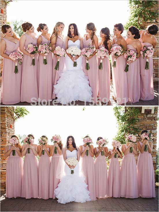 17 Best ideas about Dusty Rose Bridesmaid Dresses on