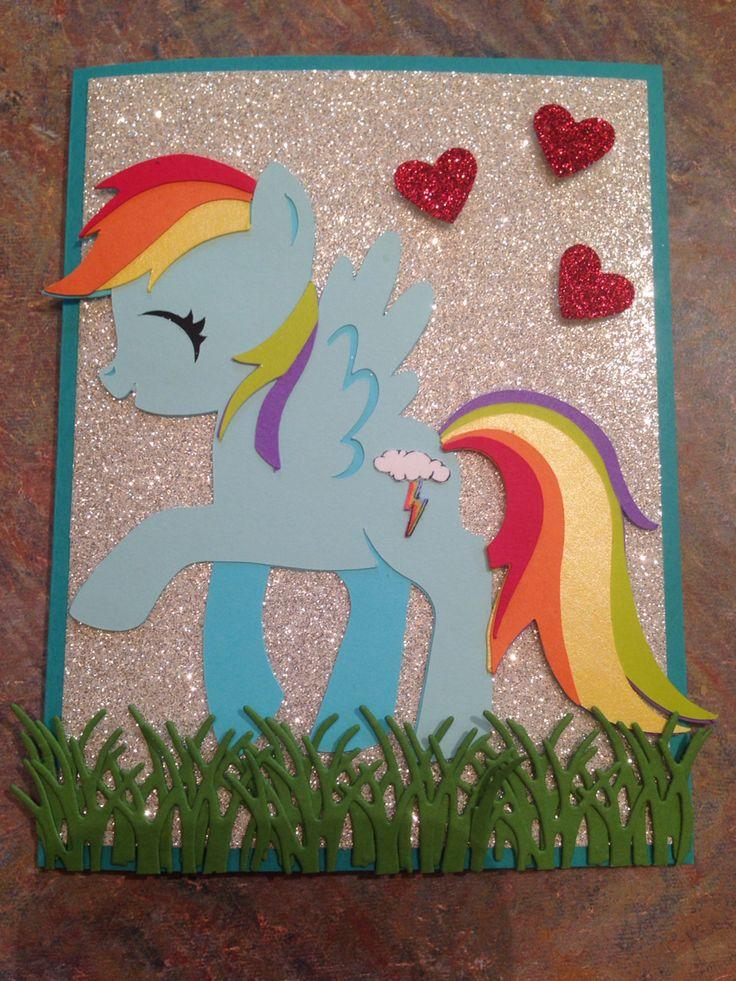 My Little Pony Card Rainbow Dash Kaylahskards Com Card