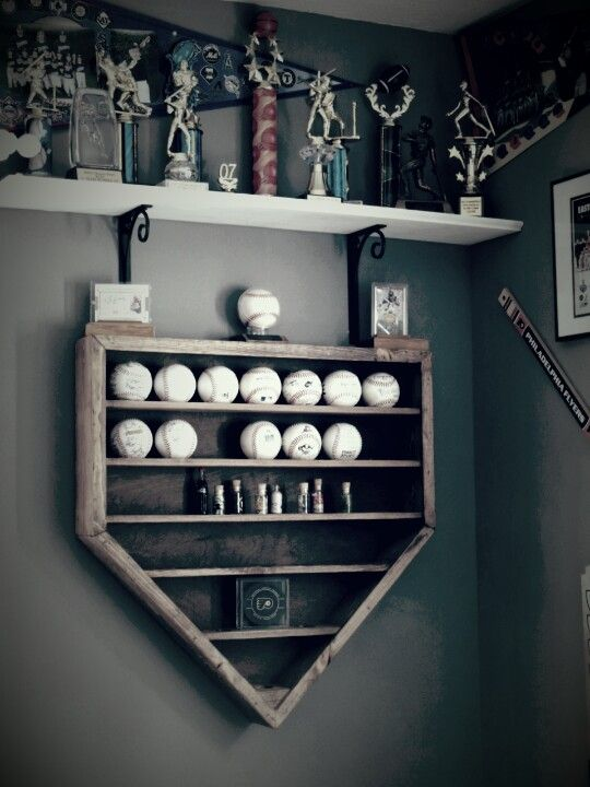 Baseball Display Shelf Woodworking Projects Plans