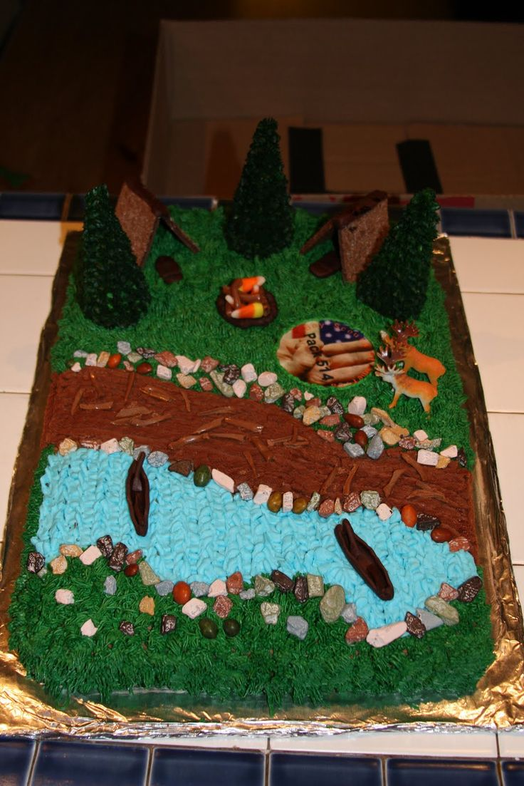 1000 Images About Boy Scout Cake Ideas On Pinterest