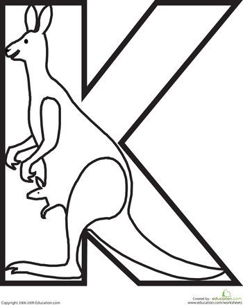 Geography Blog: Letter K Coloring Pages