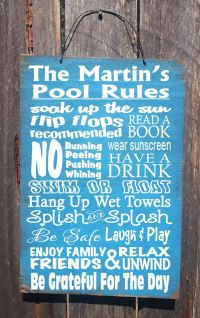 25+ Best Ideas about Pool Rules Sign on Pinterest