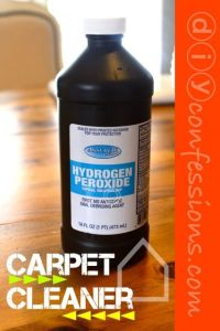 Hydrogen Peroxide: carpet cleaner. I have used it for ...