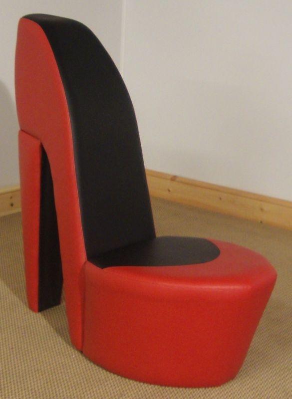 zebra high chair folding chaise lounge plastic stiletto shoe http://www.ebay.co.uk/itm/red-black-shoe-high-heel-stiletto-chair ...