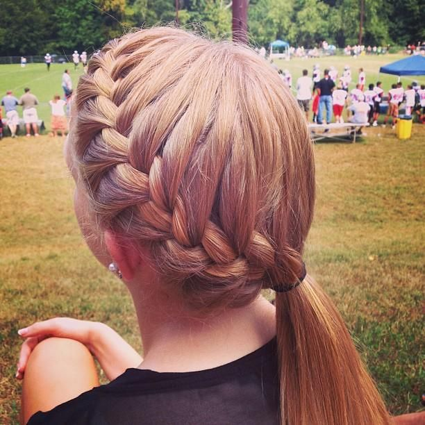 25 Best Ideas About Softball Braids On Pinterest Softball