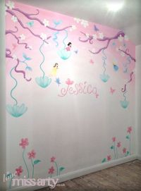 Fairy and butterfly wall mural. Designed and hand painted ...