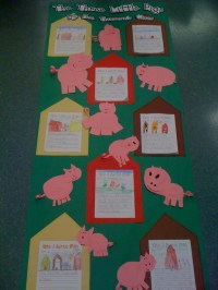 three little pigs door decorating for reading week: Doors