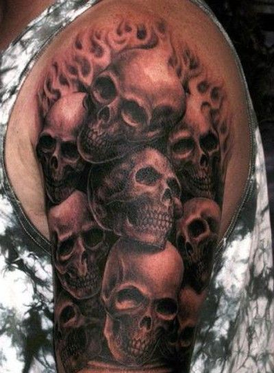 skull tattoo design - 30 simple