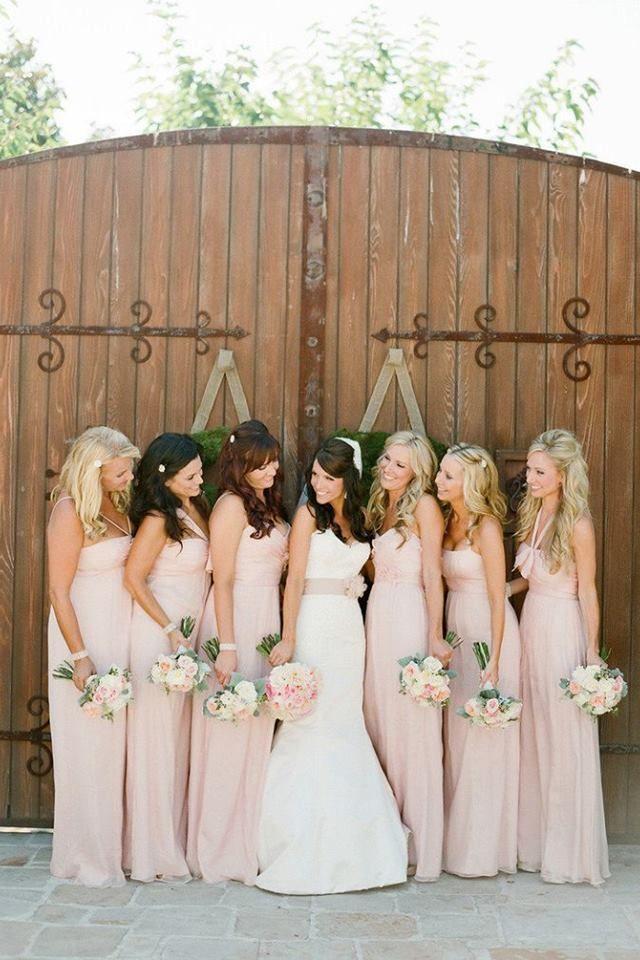Pale pink bridesmaid dresses  Wedding  Pinterest