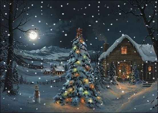 Moving Falling Snow Wallpaper Moving Snowing Christmas Cottage Scene Snowing Christmas
