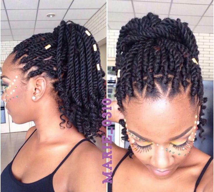 25 Best Ideas About Black Braided Hairstyles On Pinterest Black