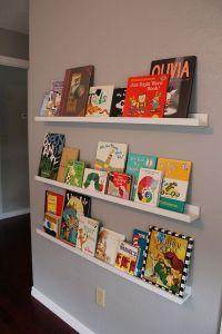 Bean's nursery -- finally finished! Wall shelves from IKEA ...