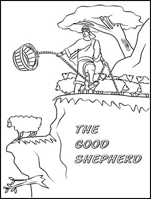 Feed My Sheep Coloring Page Sketch Coloring Page