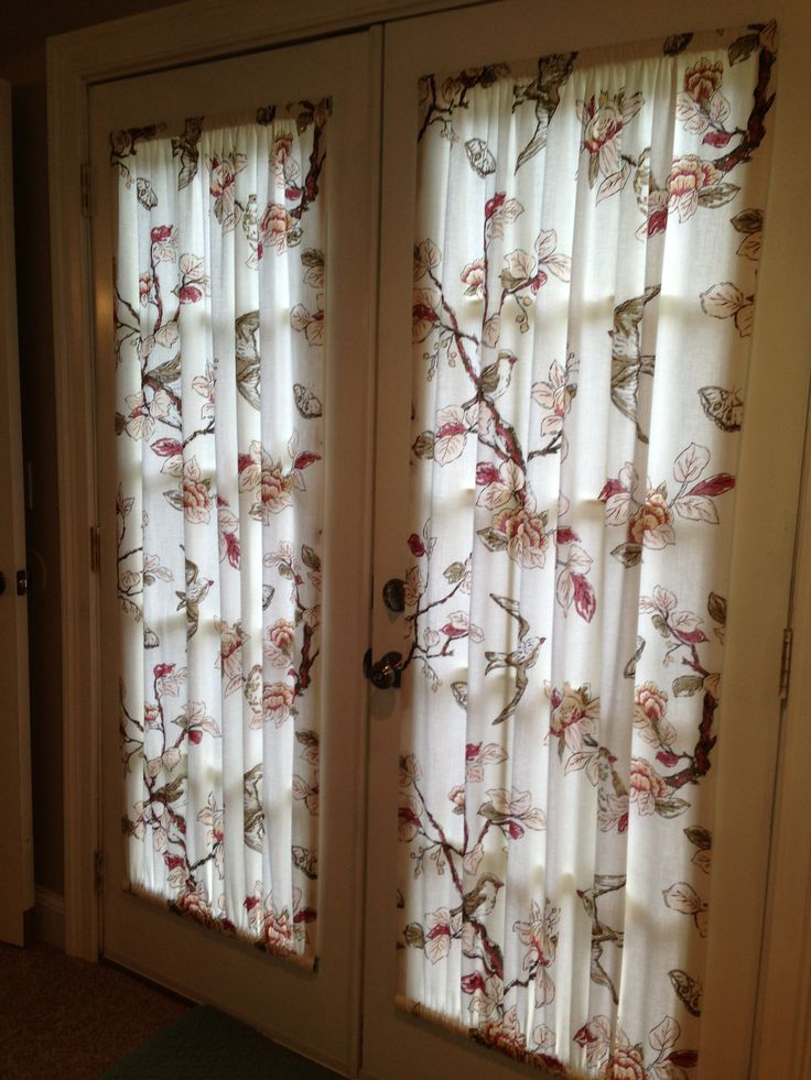 French door curtains made from a $19.00 target shower