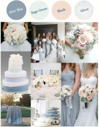 Slate Blue (or Dusty Blue) with Light Sage Green Blush and