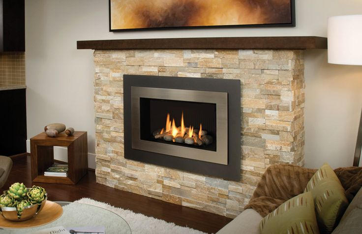 H4 with Landscape Surround 660LSV and Brushed Nickel Inner Bezel   Fireplaces  Pinterest