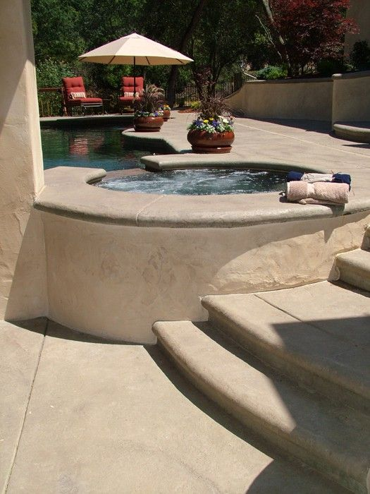 outdoor kitchen patio ideas high end cabinets brands this pool deck was colored with davis colors sandstone ...