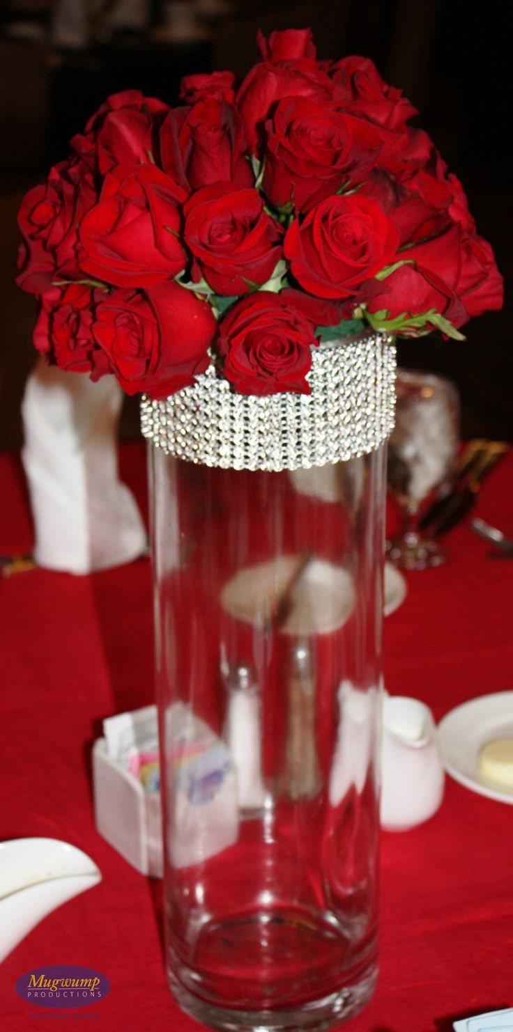 209 best images about Wedding  Red Centerpieces on Pinterest  Red rose centerpieces