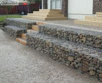 stepped gabion retaining wall http://www.gabion1.com ...