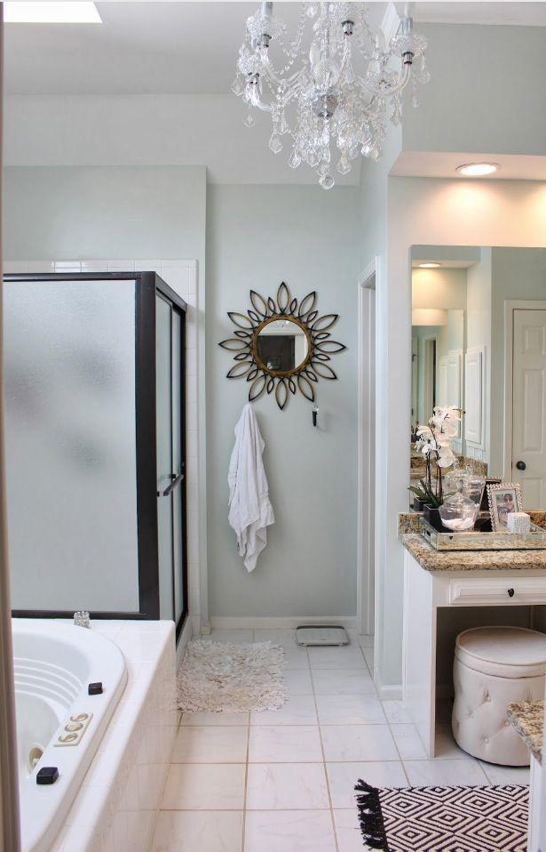 paint colours for living room idea diy floating shelves benjamin moore 'healing aloe' | bathroom pinterest ...
