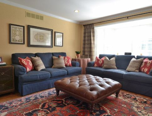 41 best images about Coral, Navy, & Brown Living Room on