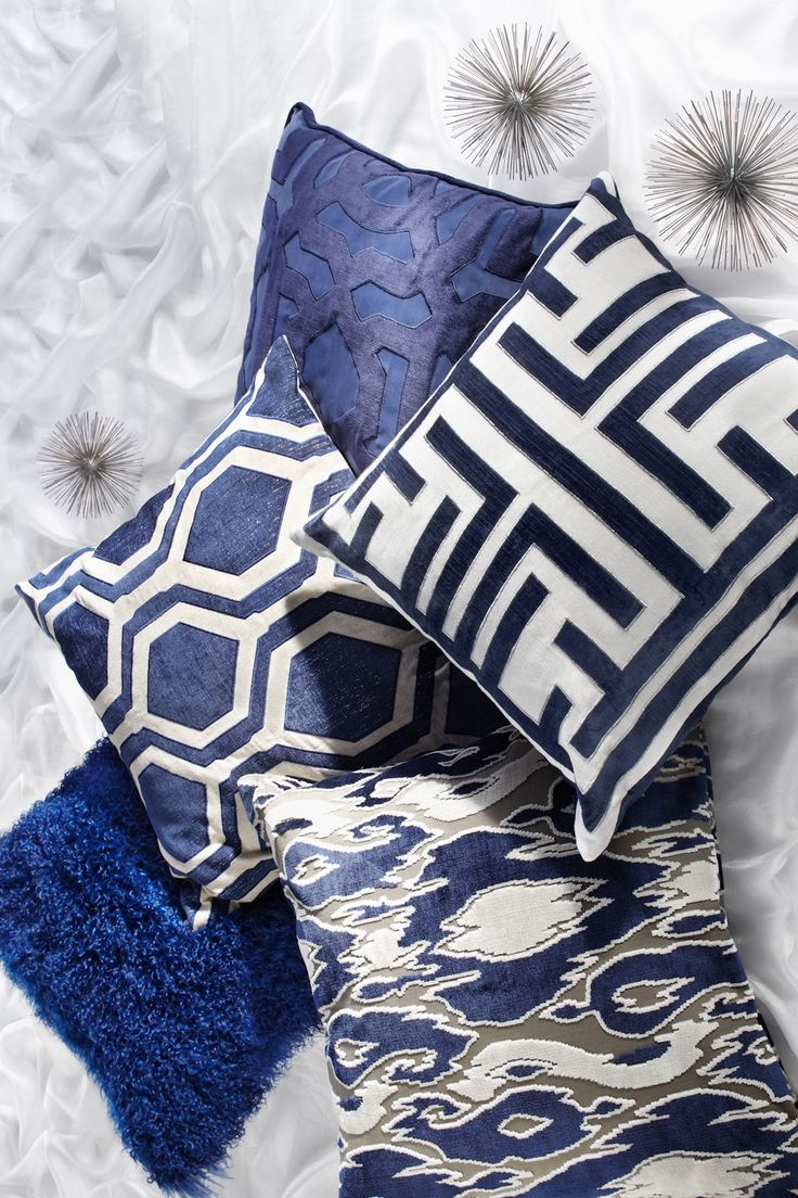 25 best ideas about Blue pillows on Pinterest  Navy