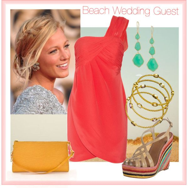 Beach wedding guest by peapods on Polyvore  Wedding outfit  Pinterest  Wedding One