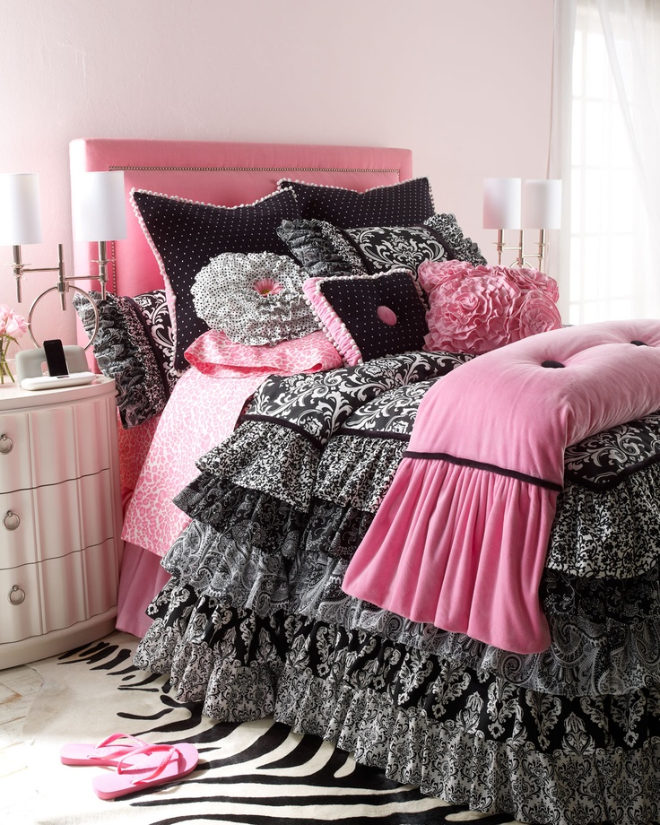 1000+ images about Black and Pink Bedding on Pinterest
