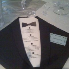 Folding Chair Covers Wholesale Overstock Dining Chairs 'black Tie' Napkins And Menus | James Bond Party Pinterest It Is, The O'jays Menu Cards
