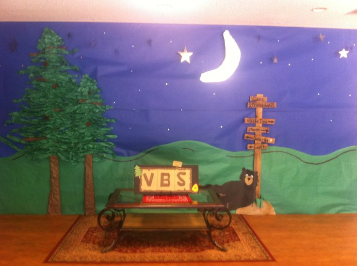 Vbs Camping Theme Decorations  Summer Programcamping