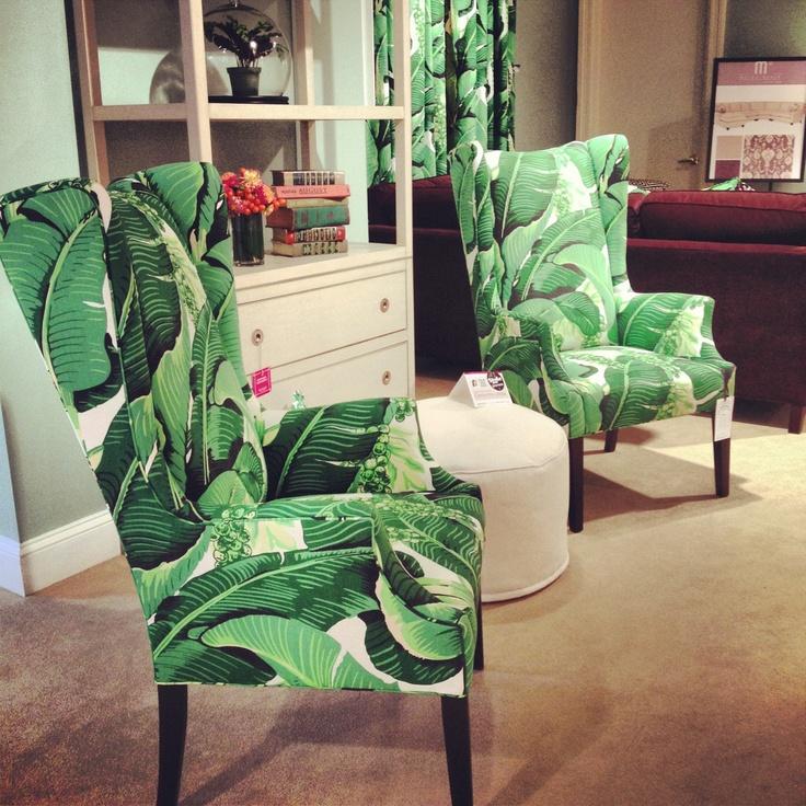 Dorothy Draper fabric on CRLaine chairs HPMkt  New