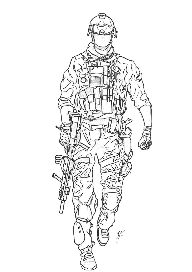 Battlefield 4 Drawings Sketch Coloring Page