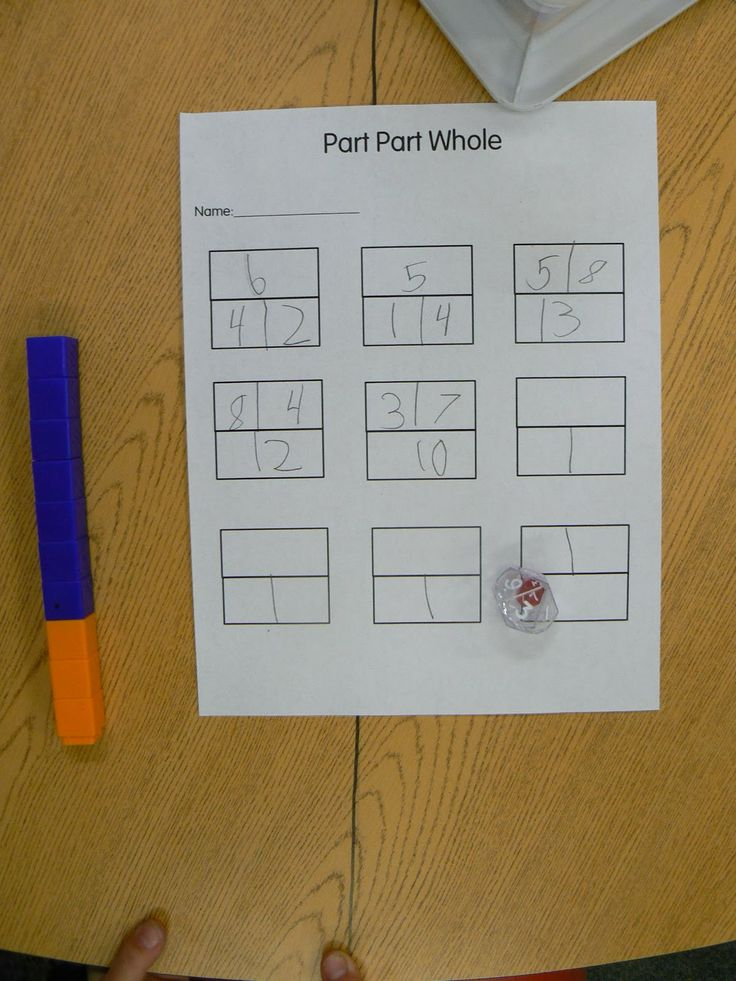 Mrs ts first grade class part part whole dice game