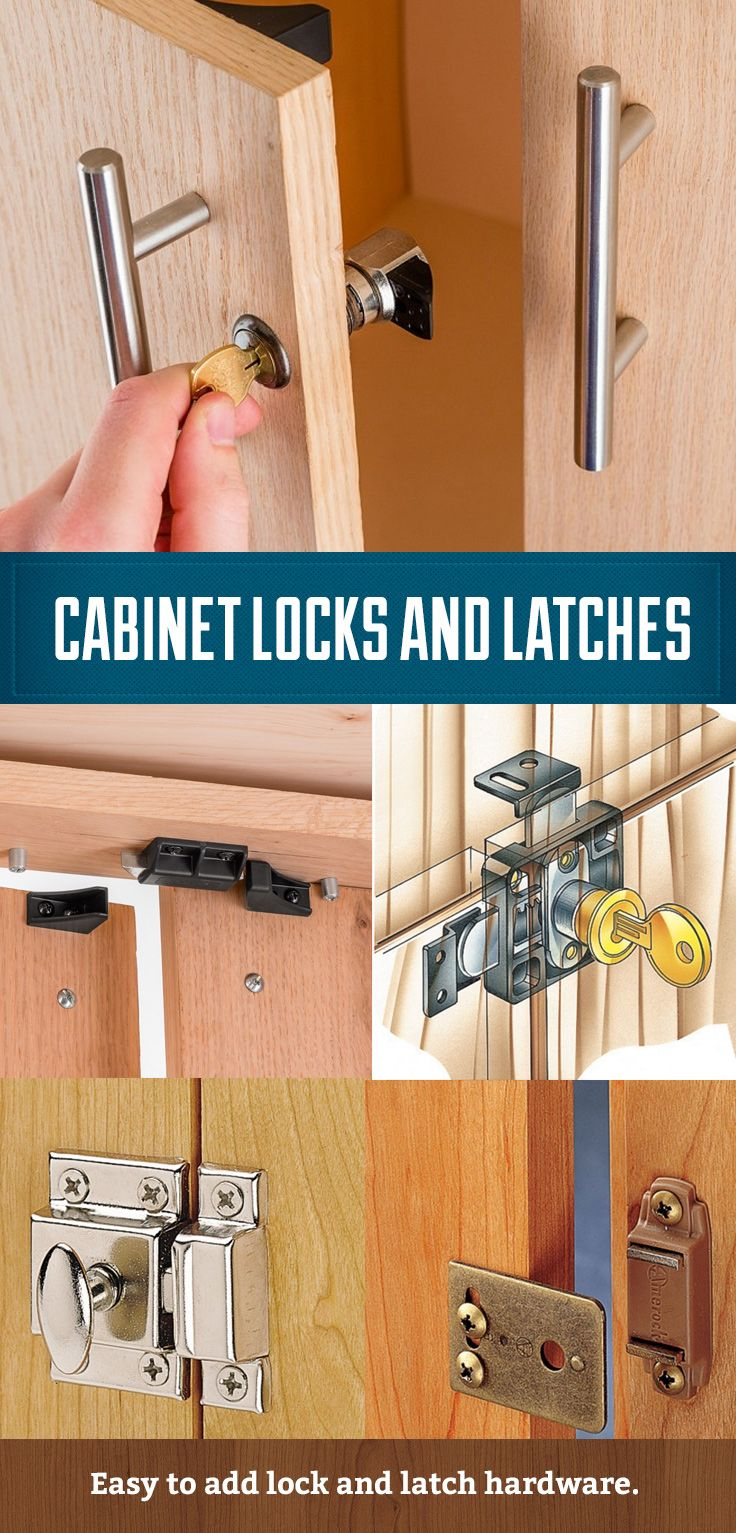 kitchen cabinets knobs and pulls kitchens remodeling cabinet locks, catches latches. easy to install ...