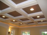 Box Beam Ceiling in white.