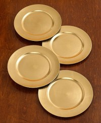 Gold Chargers (to go under the plates). These are a must ...