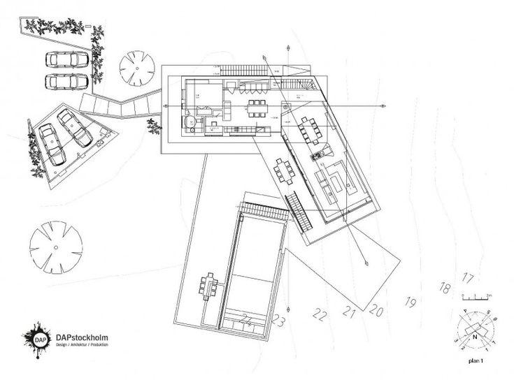 striking-house-floor-plan-with-numbers-of-scale-and-wind