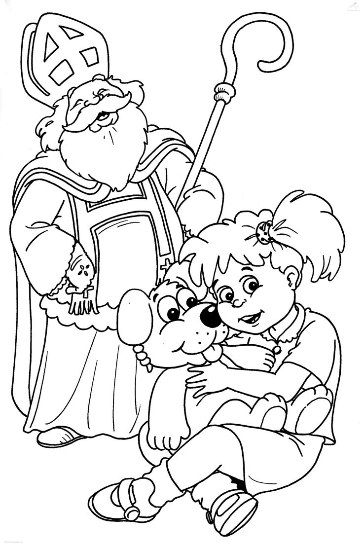 17 Best images about St. Nicholas coloring, Sinterklaas