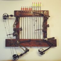 A diy bow-rack for two compound bows. His & hers ...