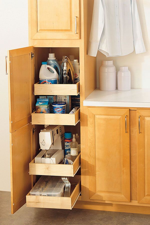 Our Pantry Super Cabinet with adjustable rollout shelves