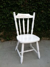 White Dining Chair, Shabby chic chair, Cottage Chic ...