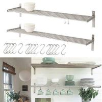 Set of 2 Ikea Grundtal Stainless Steel Kitchen Shelves
