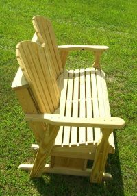 Free Adirondack Glider Bench Plans - WoodWorking Projects ...