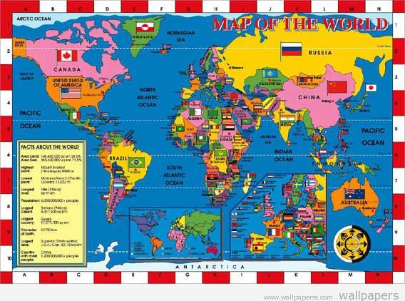 world map with countries  Map Atlas Europe Map of the