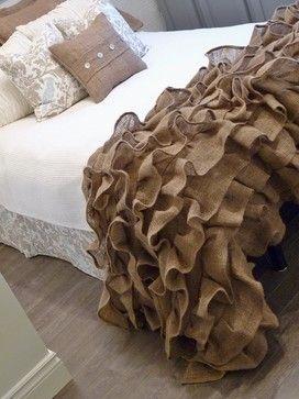 Bedroom burlap Design Ideas