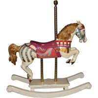 S & S Woodcarvers Diana Ross Wooden Carousel Horse with ...