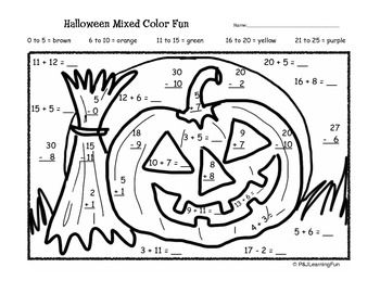 Math worksheets, Halloween and Worksheets on Pinterest